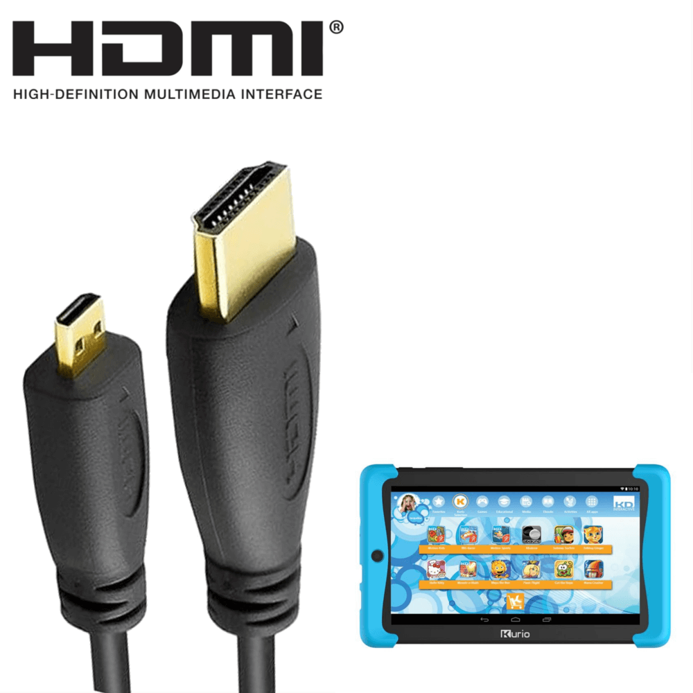 Kurio Tab 2, Smart 9 Windows Tablet PC HDMI Micro to HDMI TV 2m Gold ...